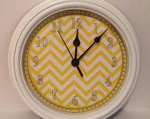 yellow gray and aqua clock nursery - Google Search