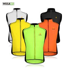 e33212a5c WOSAWE Cycling Sportswear Men Jerseys Reflective Clothing Windcoat  Breathable Bike Jacket Bicycle Cycle Sleeveless Vest 5