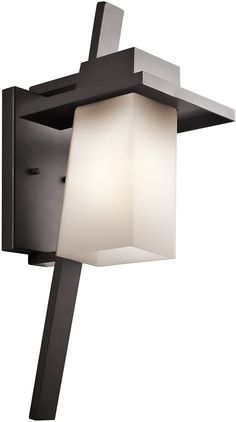Kichler Stonebrook 1-Light Outdoor Wall Lantern 49258AZ | LampsUSA
