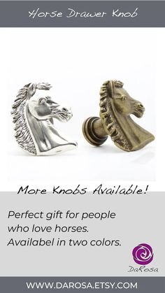Horse Cabinet Knob Equestrian Decor Small Horse Drawer image 8