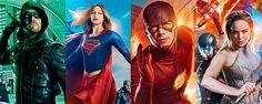 Pósters del mega crossover entre The Flash Arrow Supergirl y Legends of Tomorrow  Noticias de interés sobre cine y series. Noticias estrenos adelantos de peliculas y series