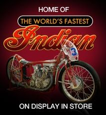 E Hayes Motorworks Collection, home of Burt Munro's Indian Scout. Located in a hardware store and free to view.