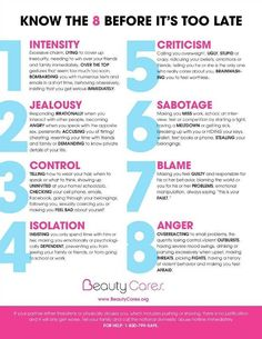 8 Warning Signs Of An Abusive Relationship - Infographic