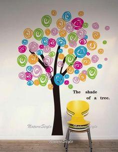 árbol de colores, para llenar las aulas de color en primavera