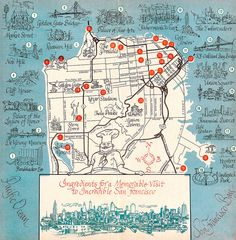 1963 San Francisco tourist map