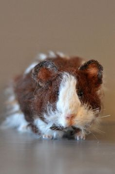Life-size needlefelted guinea pig!  This is so realistic.  Kudos to the artist.