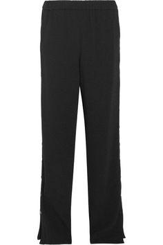 TIBI Snap-fastening crepe pants. #tibi #cloth #pants