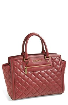 Sigh.... MICHAEL Michael Kors 'Large Selma' Quilted Leather Satchel available at #Nordstrom