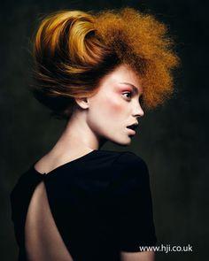 Angelo Seminara British Hairdresser of the Year Nominee - Hairstyle Designer Collection Creative Hairstyles, Funky Hairstyles, Straight Hairstyles, Crazy Hair, Big Hair, Pelo Editorial, Angelo Seminara, Avant Garde Hair, Crimped Hair