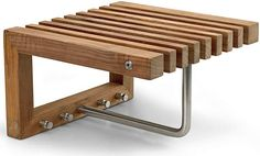 Cutter Mini Wardrobe - Hooks & Hangers - by Skagerak Teak, Small Entrance, Hanger Stand, Scandinavia Design, A Shelf, Coat Hanger, Small Storage, Small Patio, Made Of Wood