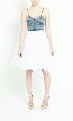 Denim Corset, Womens Fashion Online, Body Shapes, Designer Dresses, My Style, Unique, Girls, Tops, Toddler Girls
