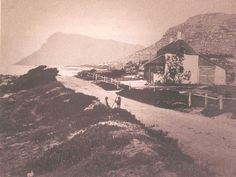 File:Main Road and Beaufort Cottage in Kalk Bay - Cape Town 1880 . Most Beautiful Cities, African History, Cape Town, Live, Old Photos, South Africa, Scenery, Places To Visit, World