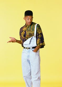 "Just watched the 1st Men in Black. ""I make this look good."" Simply is not true in this case. The fashion of one undone strap is so 80s!! The Fresh Prince of Bel-Air"
