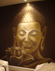 1000 images about mural ideas for our foyer on pinterest for Buddha wall mural