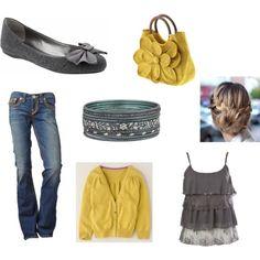 yellow & grey...love this