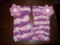 This is my first pair of leg warmers that I made on the nifty knitter!