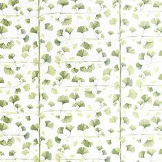 Skapa en grönskande och livfull känsla i ditt hem med Ginkgo tapet från Sandberg Tyg