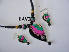 Handmade Terracotta jewelry  Hand painted  My mail id is  creations.kavi@gmail.com https://www.facebook.com/KavisTerracottajewellery