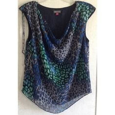 For Sale: Vince Camuto Leopard Cowl Top for $20