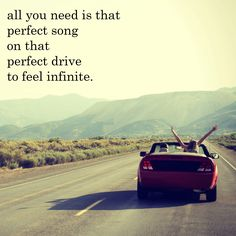 All you need is that perfect song on that perfect drive to feel infinite. #music
