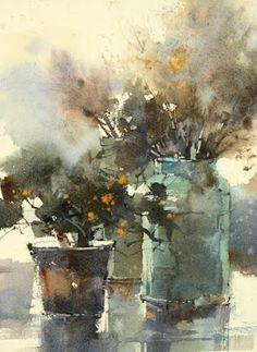 The Watercolour Log: Watercolour Paintings 52 Watercolor Artists, Watercolor Landscape, Abstract Watercolor, Watercolor Illustration, Watercolor Flowers, Watercolour Paintings, Watercolors, Love Painting, Painting & Drawing