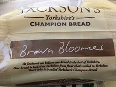 Jackson's Yorkshire's Champion Bread Brown Bloomer. Baked in Yorkshire from flour that's milled in Yorkshire.