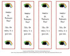 Printable File Folder Games, Other Fun Classroom Activities: FREE St. Patrick's Day Bookmarks