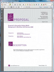 simple sales proposal template