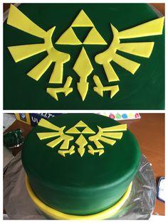 Legend of Zelda tri-force cake for my husband's surprise birthday cake
