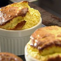 Blue Cheese Souffle with Fresh Figs and Honey by Food Network