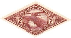 Costa Rica Airmail Stamp by @Firkin, From a public domain image on Wikimedia Commons, on @openclipart