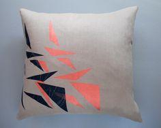 Trigon Throw Pillow. $75,00, via Etsy.