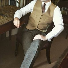 mydapperself:  A little bit of vintage style from @suitandtiefixation …. not sure though if vintage or timeless, what would you call it?  #suit #tie #timeless #waistcoat #elegant #vintage #ootd #original #class #sartorial #dapper #menswear #inspiration #suitup #amazing #cool  Thanks for sharing my picture, I need to reblog this