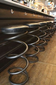 coil spring bar stools - Google Search