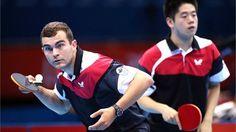 Canada Men's Team Table Tennis - Pierre-Luc Hinse and Andre Ho Table Tennis Player, Tennis Players, Latest Sports News, Nhl, Athlete, Canada, Colours, Celebrities, Women