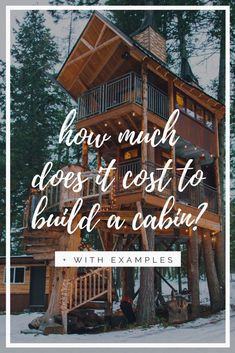 A Guide to How Much Build a Log Cabin Costs: With Real Examples. This guide breaks down the cost per square foot, building options (DIY, floor plans, small cabin kits, etc.) and steps to save money. There's SO MANY options on the cabin market - from small 400 sqft cottages to large mountain log mansions...finding your budget and discovering the best ways to save money building are key. This guide focuses on small, rustic, cozy log cabins.