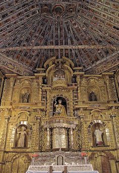 Church of San Pedro of Andahuaylillas. The 'Capilla Sixtina' or 'Sistine Chapel' of America. Peru Travels & Tours, Pictures, Photos, Images,…
