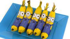 Si a tus hij@s le gustan los Minions les encantará estos plátanos disfrazados de Kevin, Stuart y Bob, para merendar. Descarga e imprime la plantilla gratis