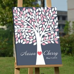 Wedding Tree Guest Book Wedding Tree Guestbook by MyfavorfabricArt