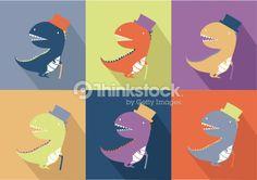 Clipart vectoriel : Cute dinosaur monster cartoon