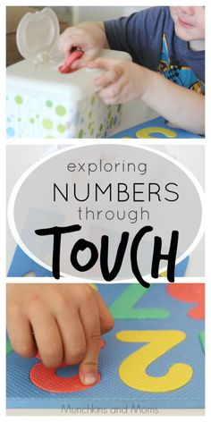 Exploring Numbers Through the Sense of Touch Five Senses Preschool, My Five Senses, Senses Activities, Kindergarten Science, Preschool Learning, Early Learning, Preschool Activities, Number Activities, Early Math