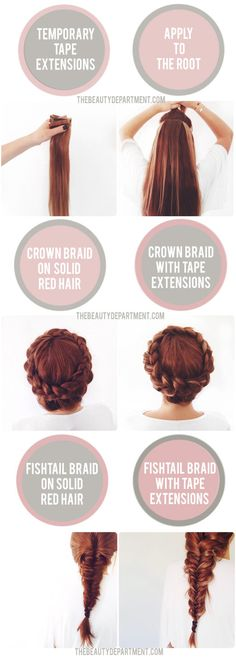 The Beauty Department: Your Daily Dose of Pretty. - BRAIDS FOR BRUNETTES + REDHEADS