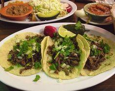 Mexican food. #Tacos de asada, lengua, chorizo, buche, hmmmmm!