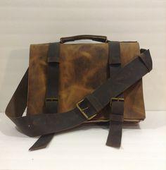 Leather Messenger Bag Mens Leather Bag For Work Mens by NadiraBag