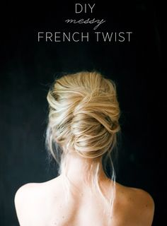 Messy French Twist:: How to French Twist:: Vintage Up do:: Retro Hairstyles
