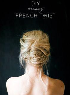 messy French twist