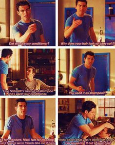 Schmidt and Nick - conditioner - New Girl