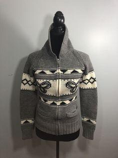 Aritzia TNA Sea To Sky Zip Sweater Lambswool  Size Medium Gray Cowichan Knit  | eBay Cowichan Sweater, Zip Sweater, Zip Ups, Winter Jackets, Sky, Hoodies, Knitting, Medium, Best Deals