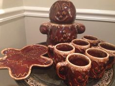 Rare Hull Gingerbread Drip Pottery Set by 4PDX on Etsy