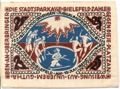 1921 25 Mark banknote - Germany, German Notgeld. New on http://colnect.com/banknotes